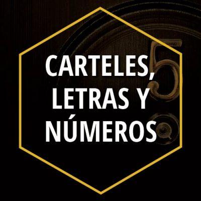 CARTELES LETRAS Y NÚMEROS
